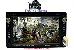 See Pandamotor Double 2 Din In-Dash 6.2 Inch Car DVD Player Radio Stereo USB SD SUB Mp3 Bluetooth+Free Camera Details