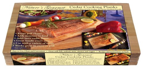 Natures Gourmet Cedar Cooking Planks 16 x 7.5 x 11/16  3 per pack