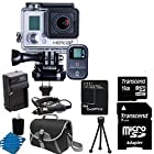 GoPro HERO3+ Black Edition Camera HD Camcorder With Replacement Lithium Ion Batteries + Charger with Car Charger + Deluxe Carrying Case + 16GB SDHC MicroSD Memory Card Complete Deluxe Accessory Bundle