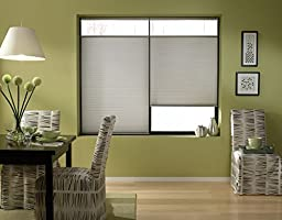 Custom Top Down Bottom Up Cordless Cell Shades, 34W x 53H, Cool Silver