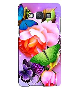 Citydreamz Butterflies\Flowers Hard Polycarbonate Designer Back Case Cover For Samsung Galaxy A3