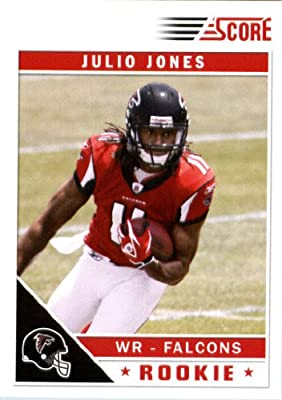 2011 Score Football Card # 351 Julio Jones RC - Atlanta Falcons (field in background) (RC - Rookie Card) NFL Trading Card In a Protective Screwdown Case!