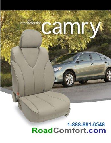 Katzkin 2012 2013 2014 Toyota Camry Se Gray Leather Seat Cover & Custom Leather Interior front-388949