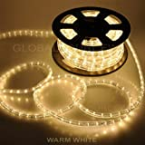 150ft Warm White 2-Wire LED Rope Light Flexible Home Outdoor Christmas Lighting 110v