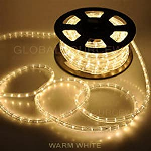 Amazon.com : 150'ft Warm White 2-Wire LED Rope Light Flexible Home