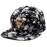 Jastore ® Hip Hop Blumen Mütze Snapback Hut Flat Schildmütze