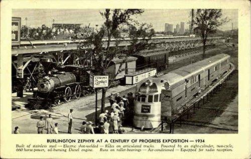 Burlington Zephyr Trains Railroad Original Vintage Postcard