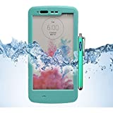 LG G3 Case, Sophia Shop LG G3 Full-body Protective Waterproof Case, Slim Fitted [IP-68 6.6 ft Underwater Waterproof] [Shock Proof] [Dust Proof] [Dirt Proof] [Snow Proof] Hard Shell Triple Layer with Built-in Kick-Stand Armor Cover Case for LG G3 D850 D85 D855 VS985 LS990 Carrier Compatibility AT&T, Verizon, T-Mobile, Sprint, And All International Carriers with Retail Packing (Aqua)