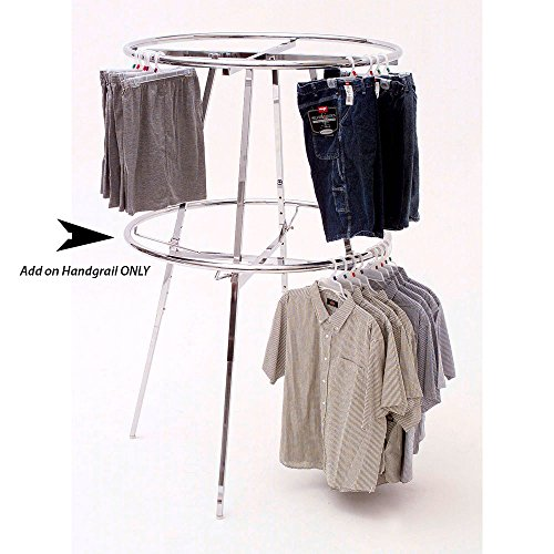 Round Rack Add on Hangrail 42 Inch (D) (Round Garment Rack compare prices)