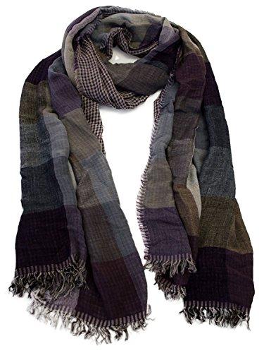 Simplicity Women Scarf Assorted Styles, Reversable Jeans Purple/Grey