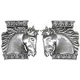 Horse Head Earrings, Vintage Jonette Jewelry, Made in USA!, in Pewter