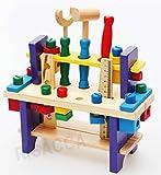 RISACCA 木のおもちゃ はじめてツールボックス 組立あそび 男の子 / 大工 工具 知育 木製 玩具 (Bタイプ)