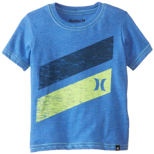 Hurley Little Boys' Icon Slash Short Sleeve Tee Toddler, Ultramarine Heather, 3T front-989041