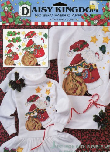 Daisy Kingdom No-Sew Fabric Applique ~ Mary's Santa