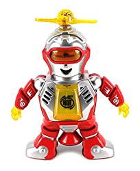Dancing Robot Elf Battery Operated Toy Figure w/ Colorful Rotating Headlights, Music, Dancing Action