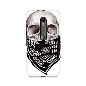 Mobicture Skull Art Premium Printed Case For Moto G3