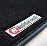 VW Tiguan (2008 Onwards) Genuine Richbrook Branded Executive Black luxurious Carpet Car Floor Mats with Black Leather Binding Trim