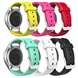 Gear S2 Watch Band, MoKo [6-PACK] Soft Silicone Replacement Sport Band for Samsung Gear S2 (S2 SM-R720 / SM-R730 ONLY) Smart Watch, Multi Colors (NOT FIT S2 Classic (SM-R732 & SM-R735) & Gear Fit2)