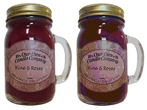 WINE & ROSES Scented 2-Pack Soy Blended 13oz Candles in Maso