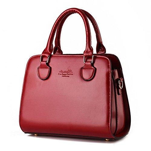 Koson-Man-Borsa Vintage da donna, borsetta per impugnatura, rosso (Rosso) - KMUKHB257