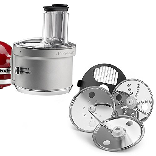 New KitchenAid KSM2FPA Food Processor Attachment with Commercial Style Dicing Kit, Silver