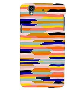 PrintVisa Color Block Pattern 3D Hard Polycarbonate Designer Back Case Cover for YU Yurekha