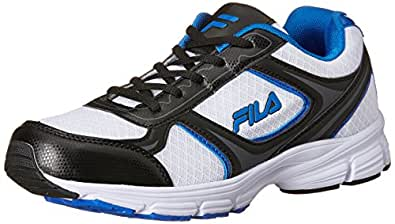 Fila Men's Sprinter White, Black and Royal Running Shoes - 10 UK/India (44 EU)