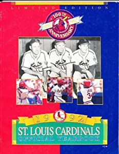 1992 St Louis Cardinals Official Team Yearbook