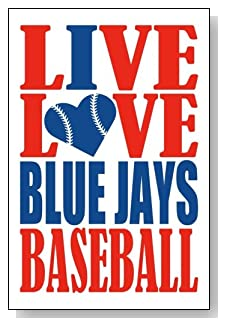 Live Love I Heart Blue Jays Baseball lined journal - any occasion gift idea for Toronto Blue Jays fans from WriteDrawDesign.com