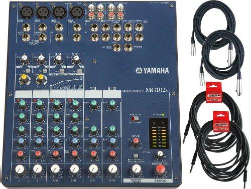 Yamaha MG102C 10-input Stereo Mixer Bundle W/(2)