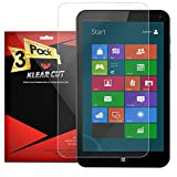 Klear Cut [3 Pack] - Screen Protector for HP Stream 8 - Lifetime Replacement Warranty - Anti-Bubble & Anti-Fingerprint High Definition (HD) Clear Premium PET Cover - Retail Packaging
