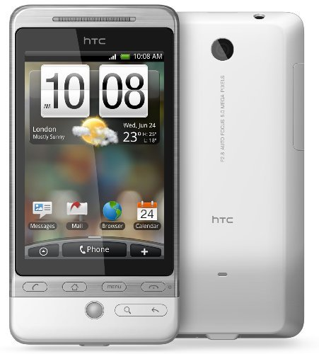 HTC A6262 Hero Unlocked Phone with 5MP Camera, WiFi, gps navigation, and Android OS--International Version with Warranty (White)