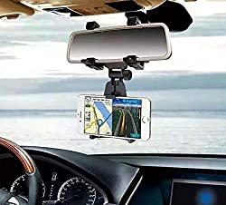 ZA eShop IMOUNT JHD-97 Universal Car Rear View Mirror Mount Holder GPS Mount for GPS and Mobile Phone
