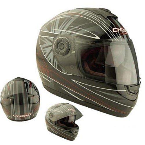 Casque moto intégral CHOK SNIPER 2013 - Double écran - Noir / Rouge - Taille S