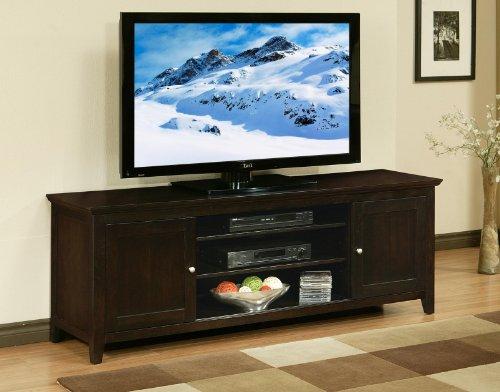 Abbyson Living Cassie Wood TV Console, 72-Inch, Solid Oak photo