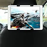 GHB Support Tablette Voiture Universel Appuie-Tête de Voiture 7-10 Pouces à Angle Réglable pour iPad / Samsung Galaxy Tab et d'autres (Noir)