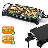 Teppanyaki-Bratplatte-Tischgrill-mit-2200Watt-schnelles-garen-Multigrill-mit-Hot-Zone-Bratzone