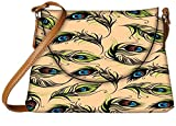 Snoogg Peacock Pattern Womens Carry Around Sling Bags