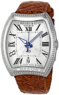 Bedat No 3 Opaline Guilloche Dial Brown Alligator Strap Automatic Ladies Watch 315-020-100