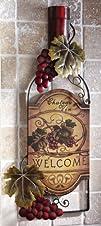 Wine Bottle Art Vineyard Kitchen Wall…