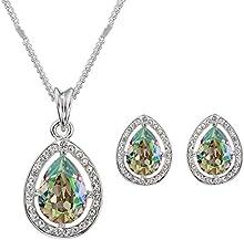 Swarovski Elements Luminoso Verde Juego de joyas
