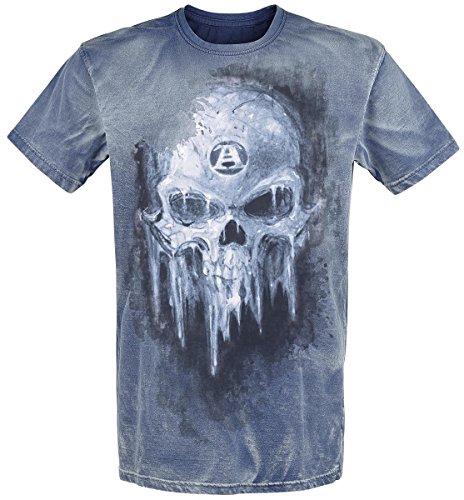 Alchemy England Iced Skull T-Shirt blu S