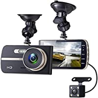 Sebikam TM-061 1080p Full HD Front Rear Car Dashboard Camera with 4 Inches Screen