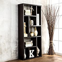 Espresso Multi-Purpose 3-in-1 Display Cabinet/ TV Stand/ Bookcase by Furniture of America