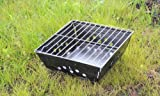 Praktischer Mini Faltgrill Picknickgrill für unterwegs, platzsparend, robust Maße (aufgebaut): 28 x 28 x 10 cm