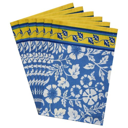 Tovaglioli Set di 6 Decorazioni Primavera Per la casa floreale panno di cotone