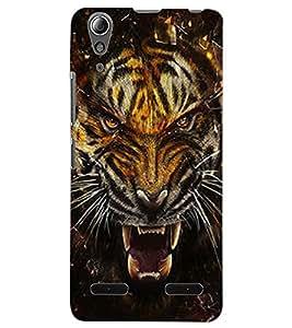 ColourCraft Roaring Tiger Design Back Case Cover for LENOVO A6000