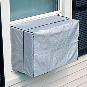 Window air conditioner cover small 5 000 10 000 btu window treatment vertical for Window air conditioner covers exterior