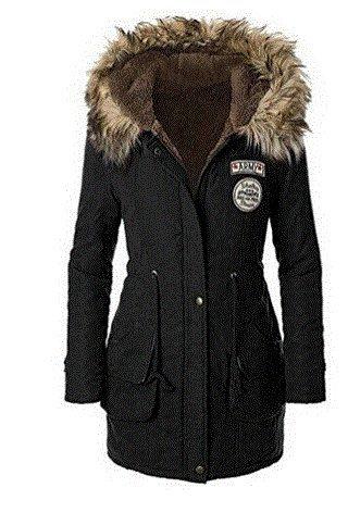 ZEARO-Abrigo-Anoraks-Chaqueta-Parka-de-Mujer-Invierno-Sudadera-con-Capucha-de-Manga-Larga-Jacket