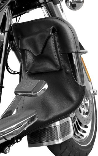 Kuryakyn 1800 Engine Guard Chaps with Drink Holder and Pocket (Black Engine Guard For Road Glide compare prices)